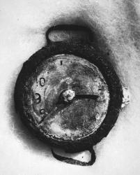 6 de Agosto, 8:15 de la mañana. La vida se detuvo en Hiroshima tal como lo muestra este reloj de pulsera. Foto: AP. Archivo de las Naciones Unidas.